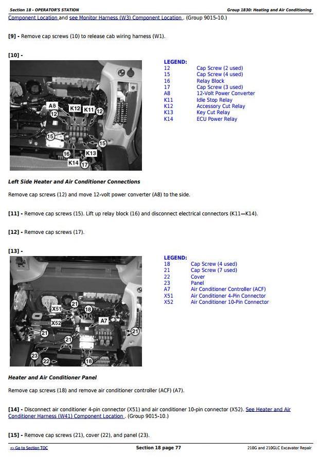 TM12539 - John Deere 210G and 210GLC (PIN: 1FF210GX__C520001-) T2/S2 Excavator Service Repair Manual - 1