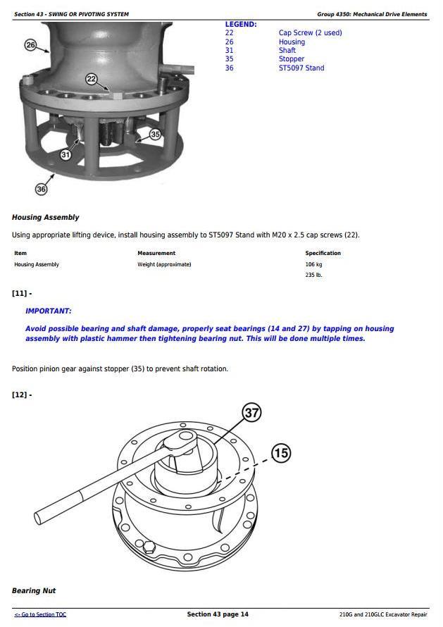 TM12539 - John Deere 210G and 210GLC (PIN: 1FF210GX__C520001-) T2/S2 Excavator Service Repair Manual - 3