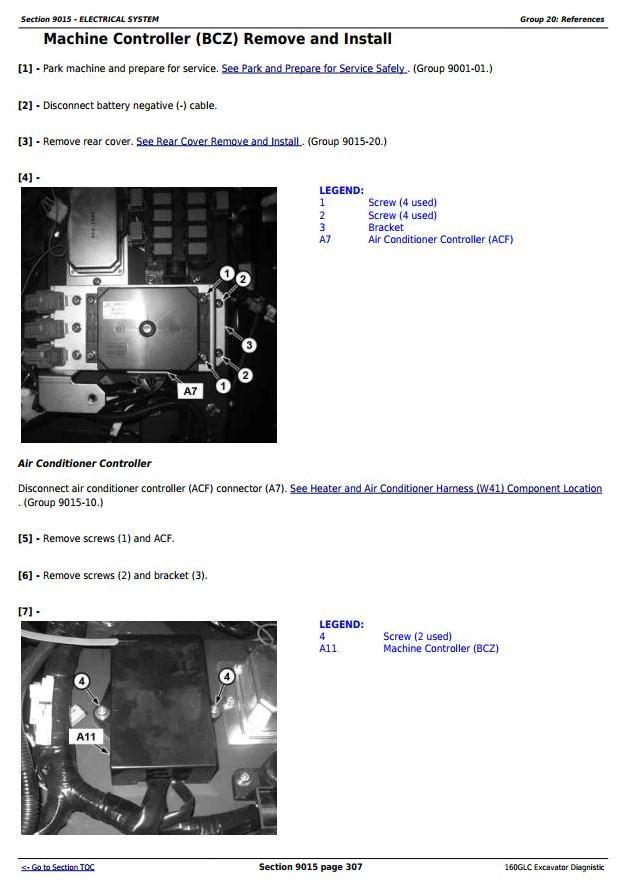 TM12548 - John Deere 160GLC (PIN: 1FF160GX__D055001) T3/S3A Diagnistic, Excavator Operation and Test manual - 2