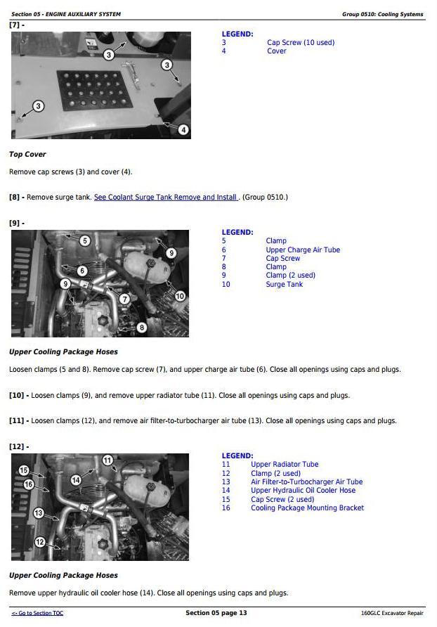 TM12551 - John Deere 160GLC (PIN: 1FF160GX__D055001-) T3/S3A Excavator Service Repair Manual - 1