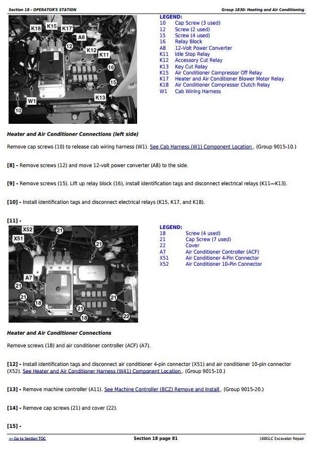 TM12551 - John Deere 160GLC (PIN: 1FF160GX__D055001-) T3/S3A Excavator Service Repair Manual - 2