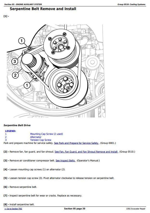 TM12669 - John Deere 135G (PIN: 1FF135GX__E400001-) iT4 Excavator Service Repair Manual - 1