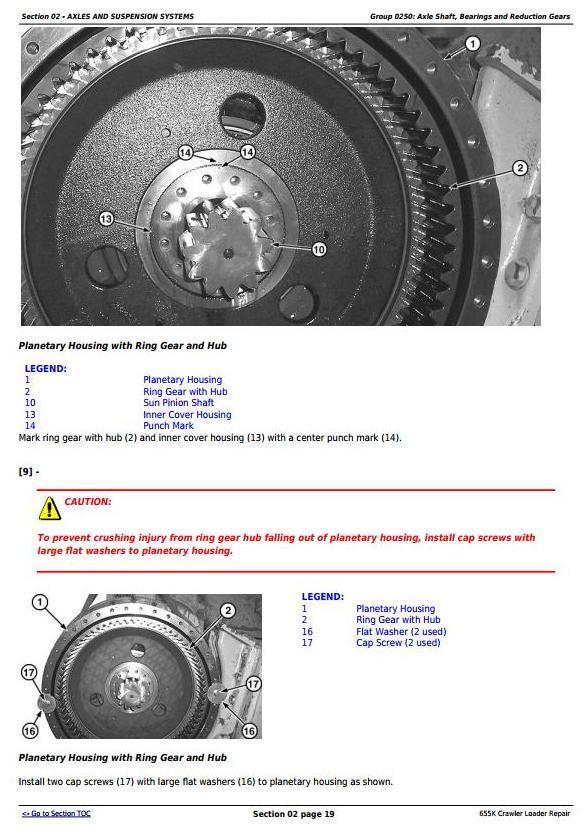 TM12721 - John Deere 655K Crawler Loader Service Repair Technical Manual - 1