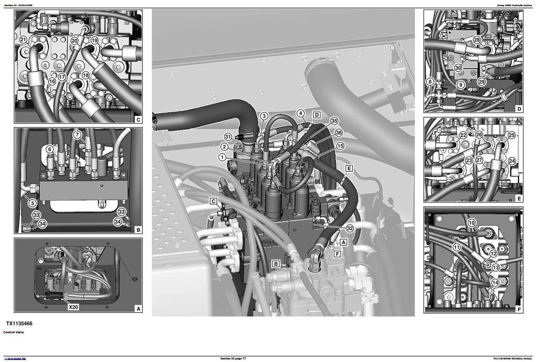 TM12735 - John Deere E210, E210LC and E230LC (T2/S2) Excavator Service Repair Technical Manual - 3