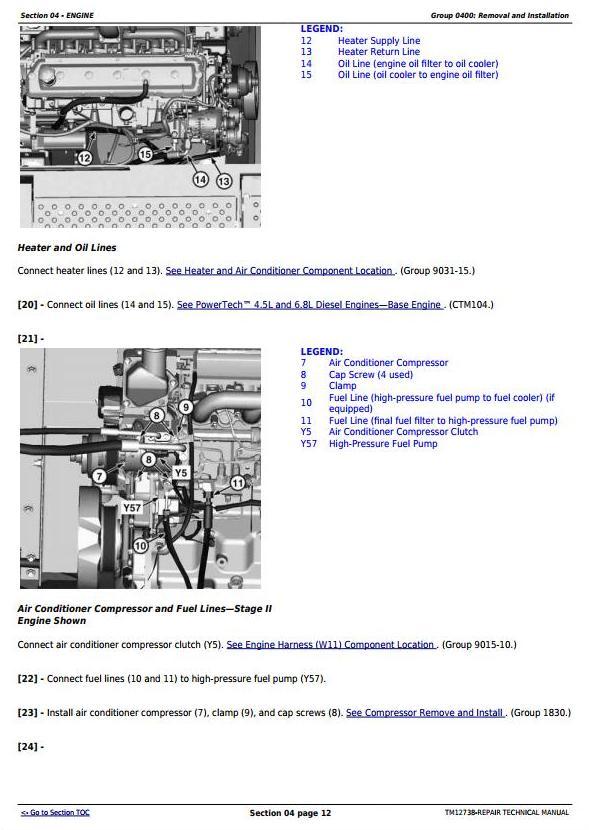 TM12738 - John Deere E240, E240LC and E260LC (T3/S3A) Excavator Service Repair Technical Manual - 1