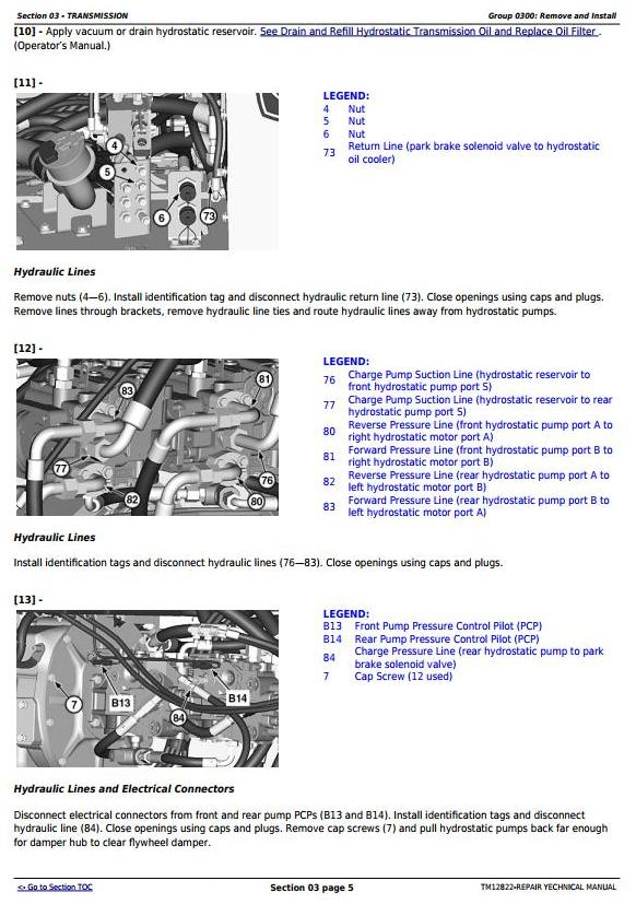 TM12822 - John Deere 605K Crawler Loader (PIN from 1T0605KX**E237629) Service Repair Technical Manual - 1
