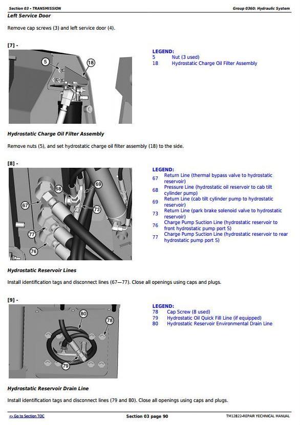 TM12822 - John Deere 605K Crawler Loader (PIN from 1T0605KX**E237629) Service Repair Technical Manual - 2
