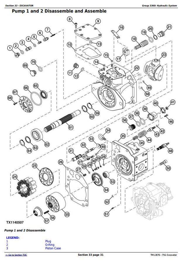 TM12876 - John Deere 75G (FT4) Compact Excavator Service Repair Technical Manual - 1