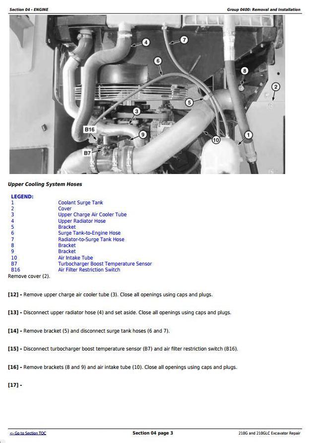 TM13077X19 - John Deere 210G, 210GLC (PIN: 1F9210GX__C520001-) T2/S2 Excavator Service Repair Manual - 1