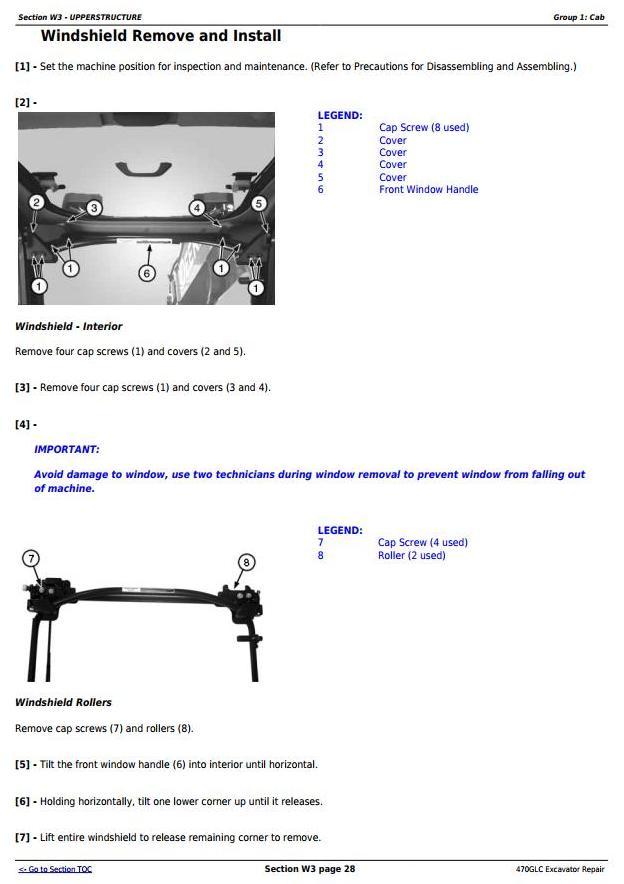 TM13174X19 - John Deere 470GLC Excavator (PIN: 1FF470GX__C047001-) Service Repair Technical Manual - 2