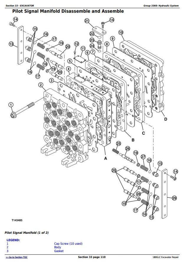 TM13195X19 - John Deere 180GLC (PIN: 1F9180GX__D020001-) Excavator Service Repair Technical Manual - 2