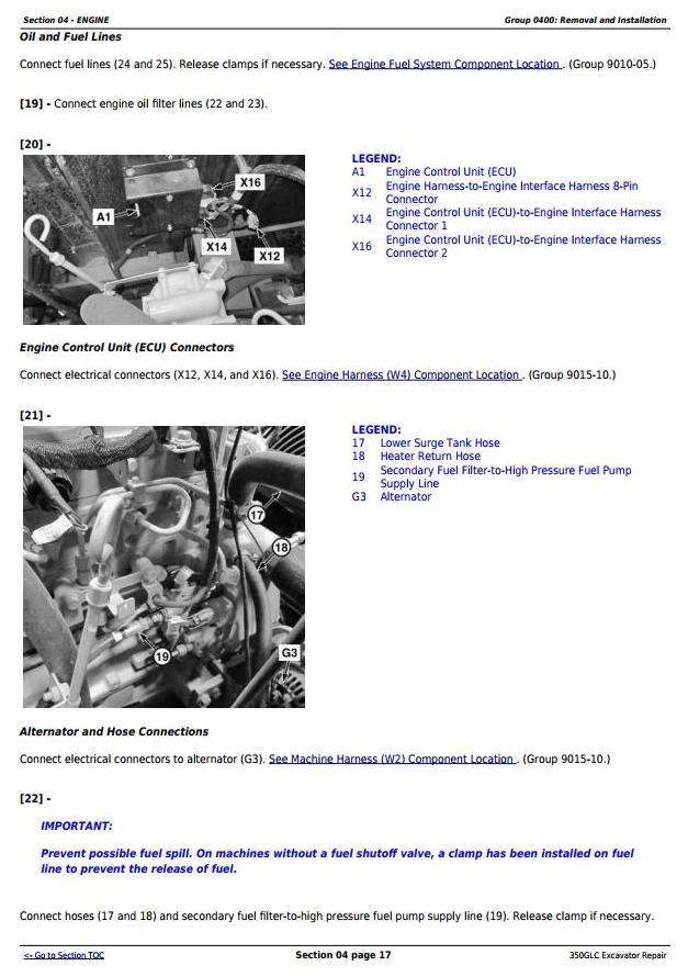 TM13197X19 - John Deere 350GLC Excavator Service Repair Technical Manual - 1