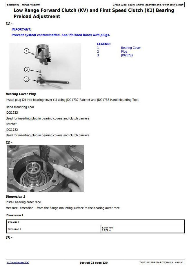 TM13226X19 - John Deere 824K Series II 4WD Loader (SN. from F664579) Service Repair Technical Manual - 1