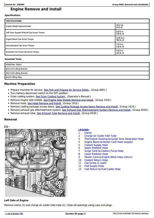 TM13226X19 - John Deere 824K Series II 4WD Loader (SN. from F664579) Service Repair Technical Manual - 2
