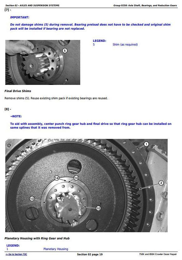 TM13282X19 - John Deere 750K and 850K Crawler Dozer (PIN:1T0*50KX__F2715**-) Service Repair Manual - 1