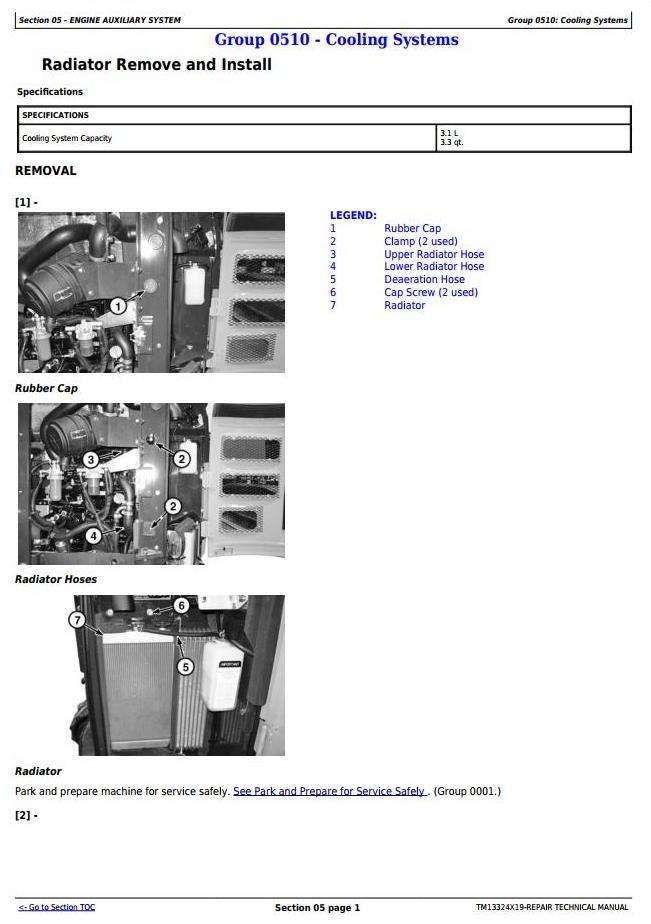 TM13324X19 - John Deere 26G (SN. from K260001) Compact Excavator Service Repair Technical Manual - 2