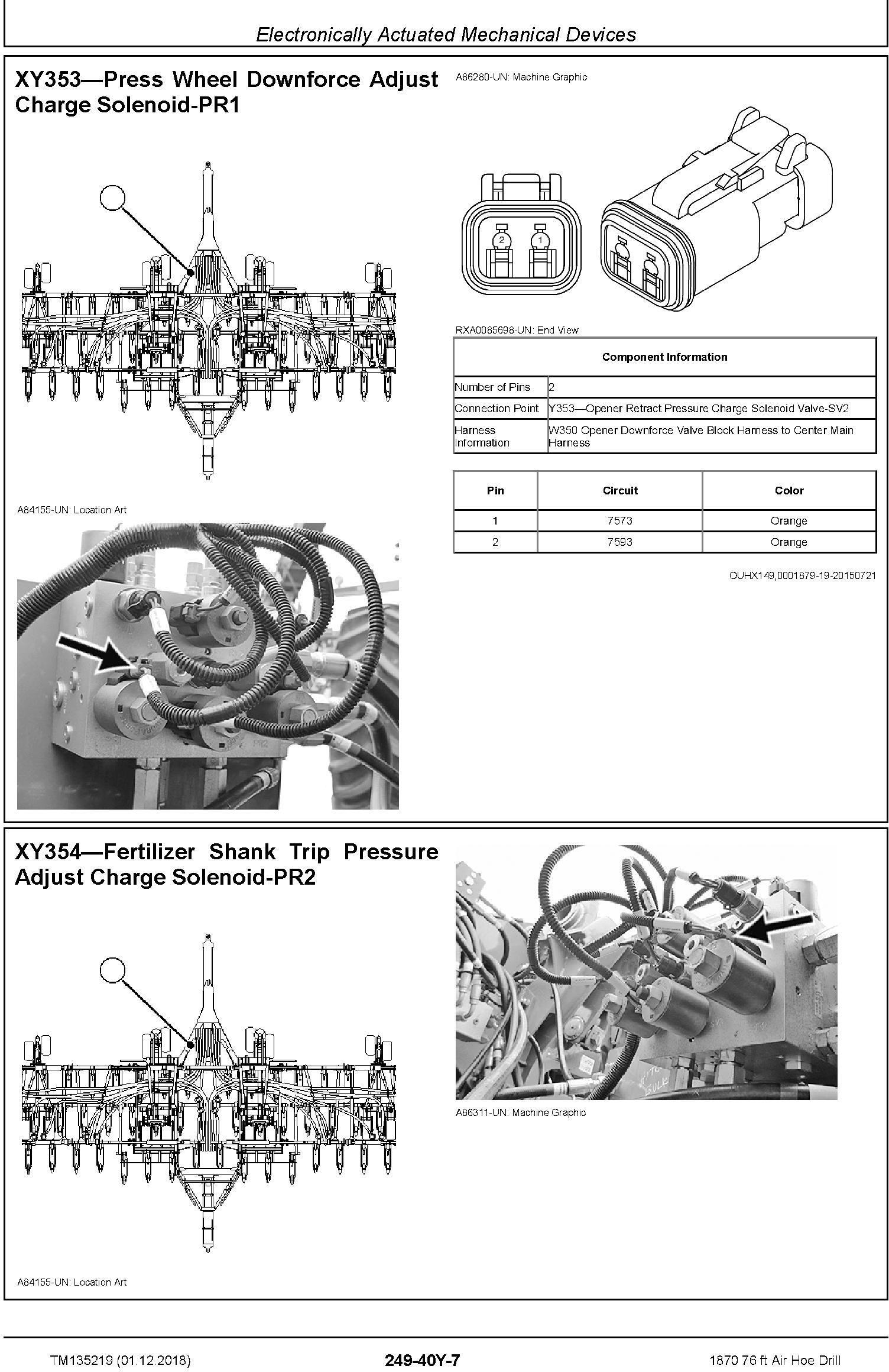 JD John Deere 1870 76 ft Air Hoe Drill Diagnostic Technical Service Manual (TM135219) - 1