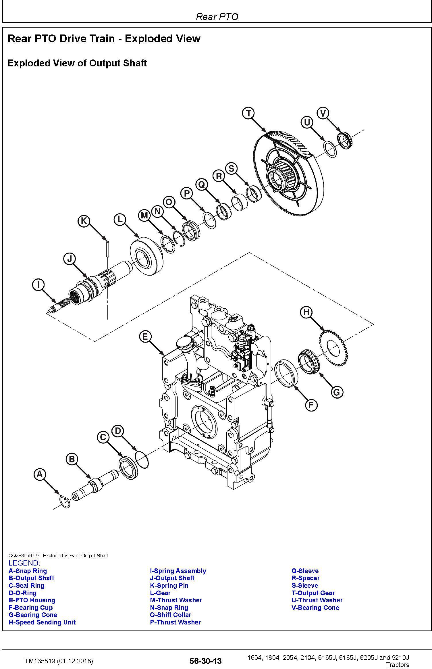 John Deere 6165J(6J-1654), 6185J(6J-1854), 6205J(6J-2054), 6210J(6J-2104) Tractors MY15 Repair Manual (TM135819) - 2