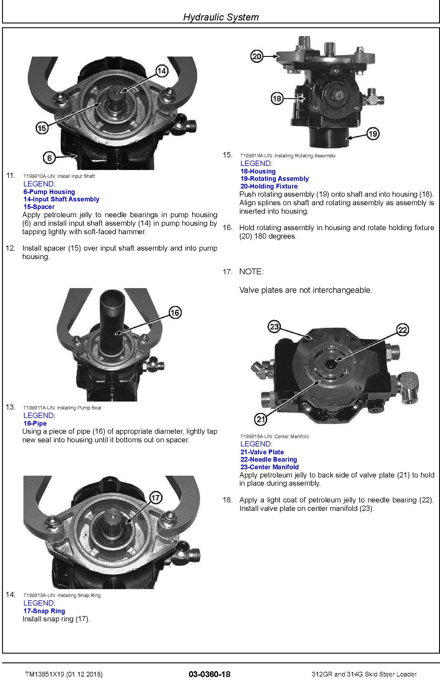 John Deere 312GR and 314G Skid Steer Loader Repair Service Manual (TM13851X19) - 2