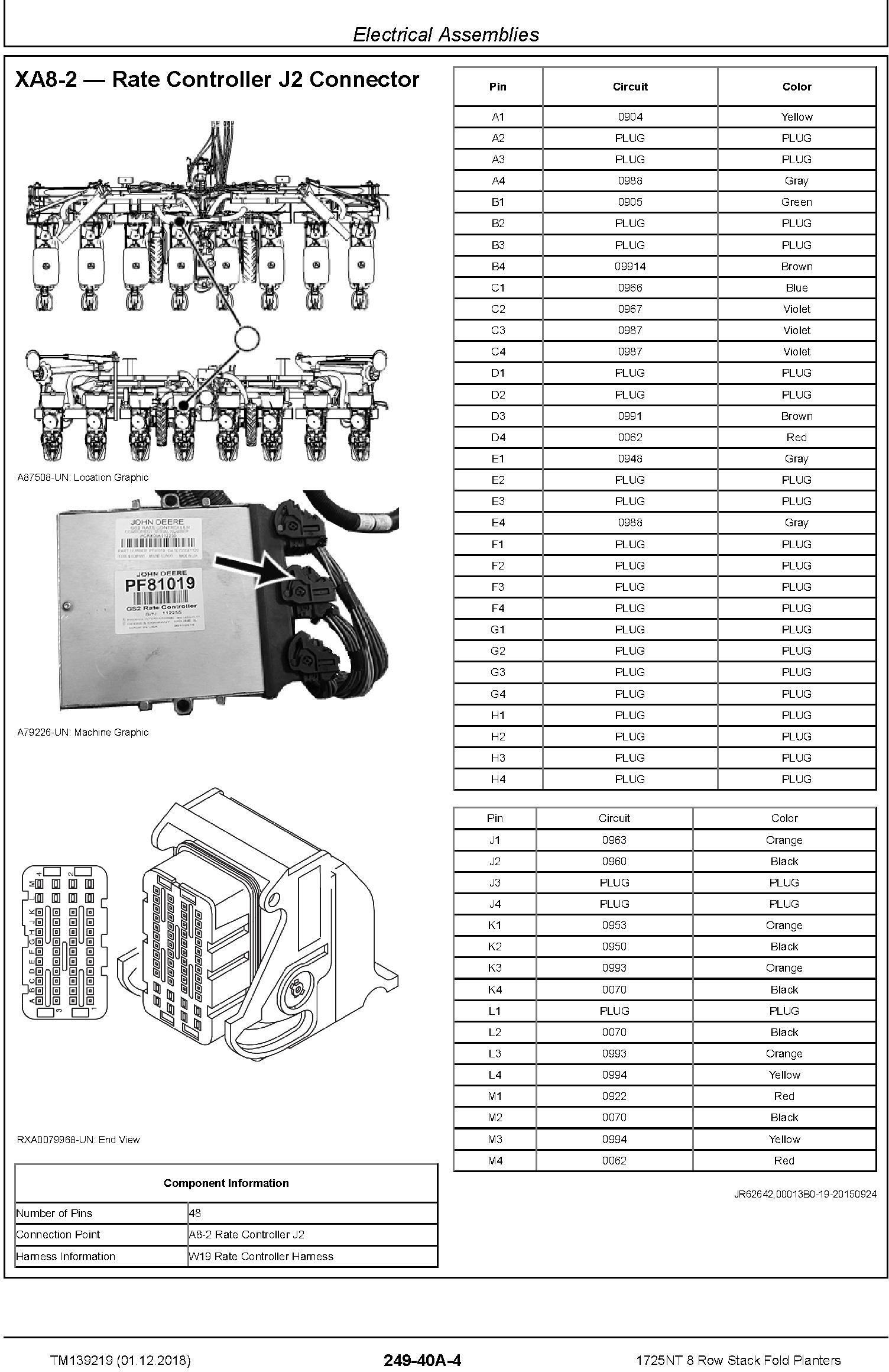John Deere 1725NT 8 Row Stack Fold Planters Diagnostic Technical Service Manual (TM139219) - 1