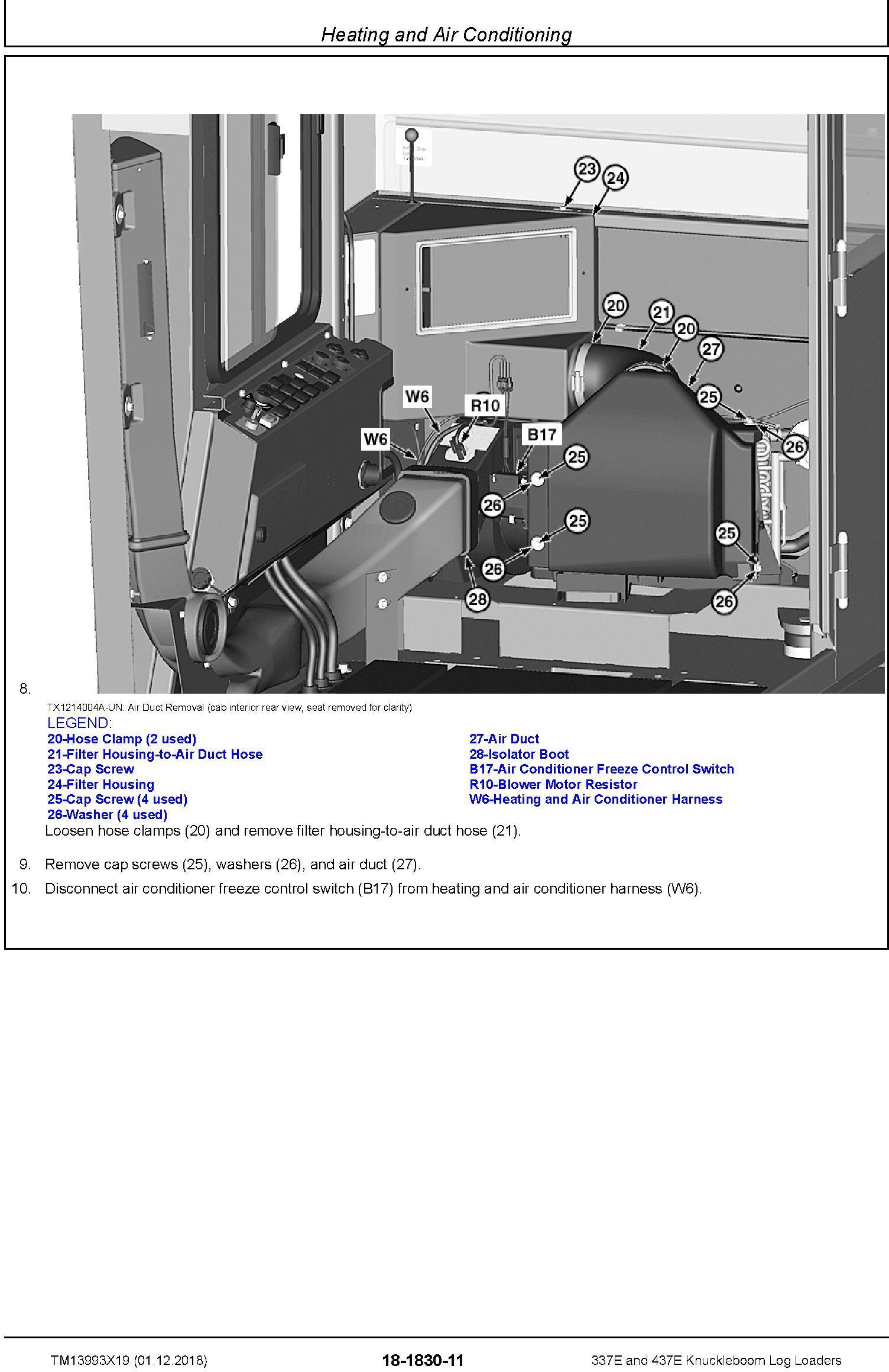 John Deere 337E, 437E (SN.F291461-) Knuckleboom Log Loaders Repair Manual (TM13993X19) - 3