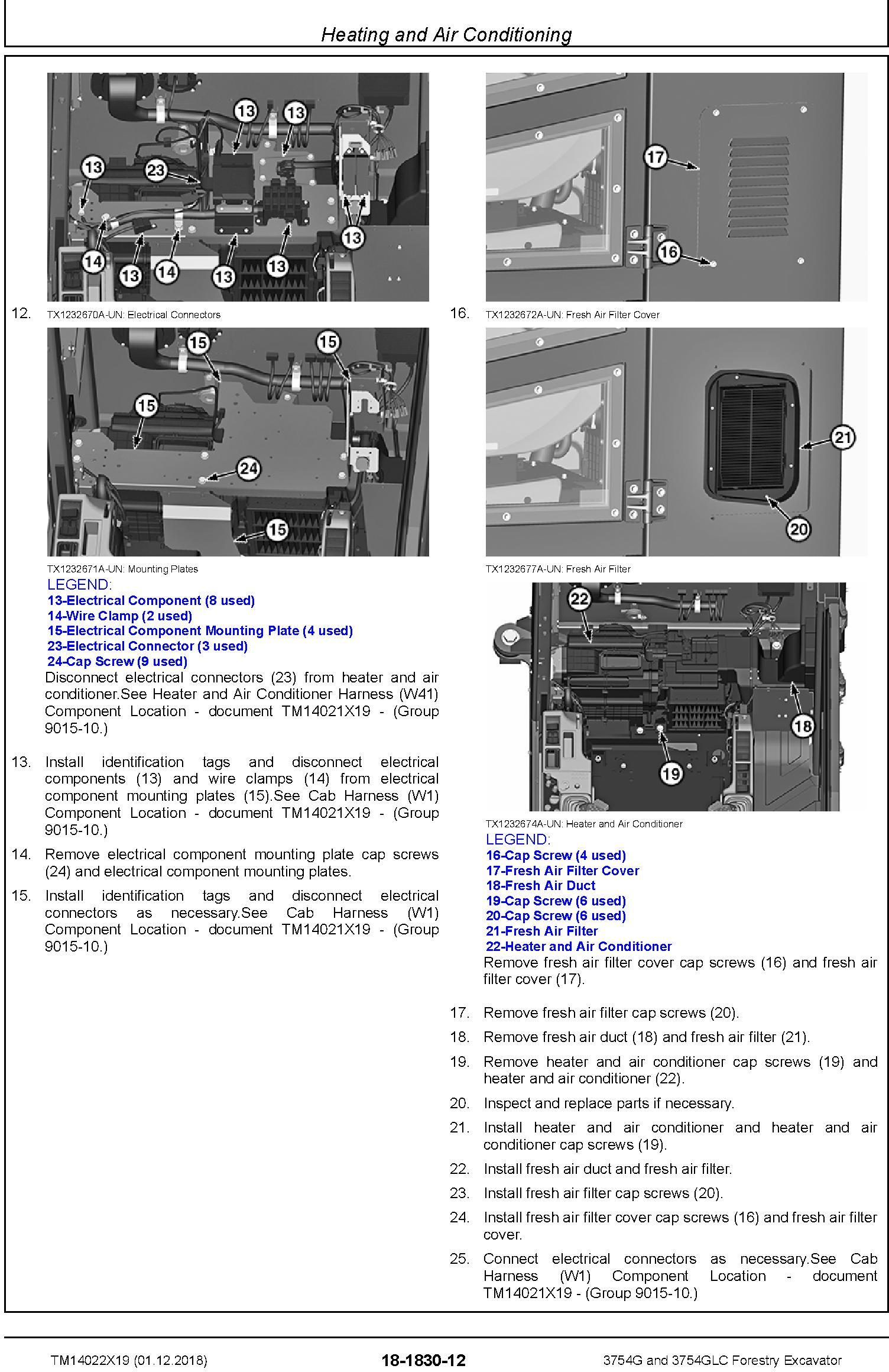 John Deere 3754G and 3754GLC (SN. F371001-) Forestry Excavator Repair Technical Manual (TM14022X19) - 3