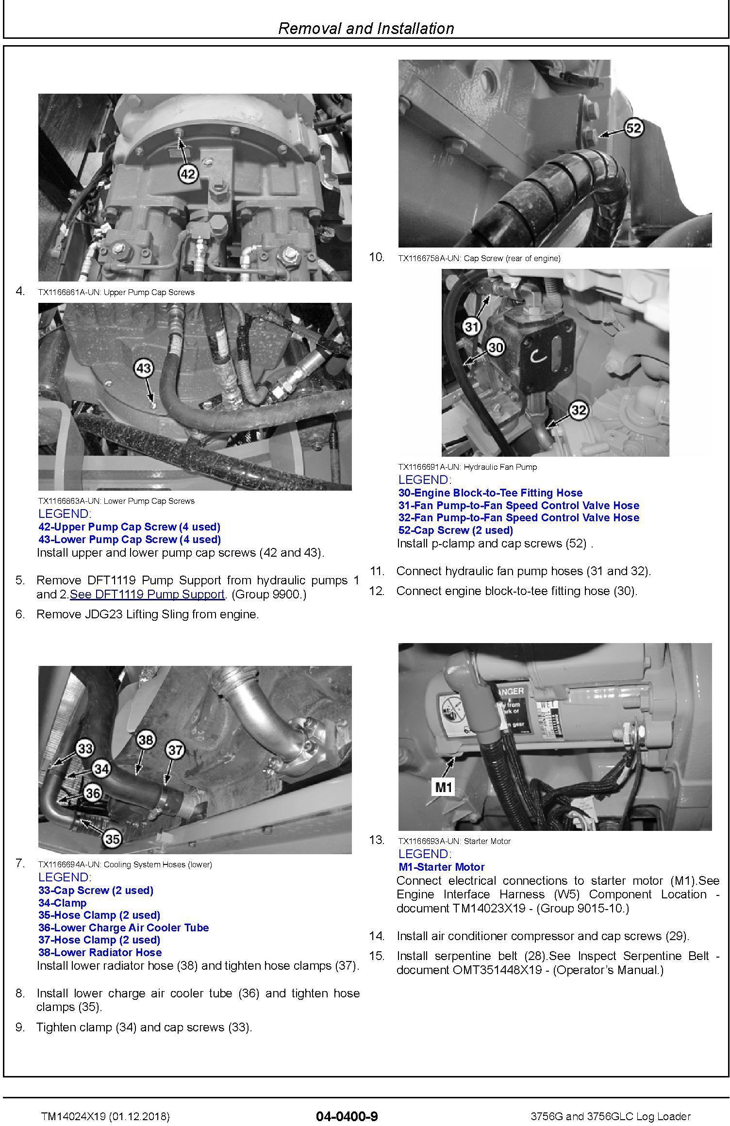 John Deere 3756G and 3756GLC (SN. F376001-) Log Loader Service Repair Technical Manual (TM14024X19) - 3