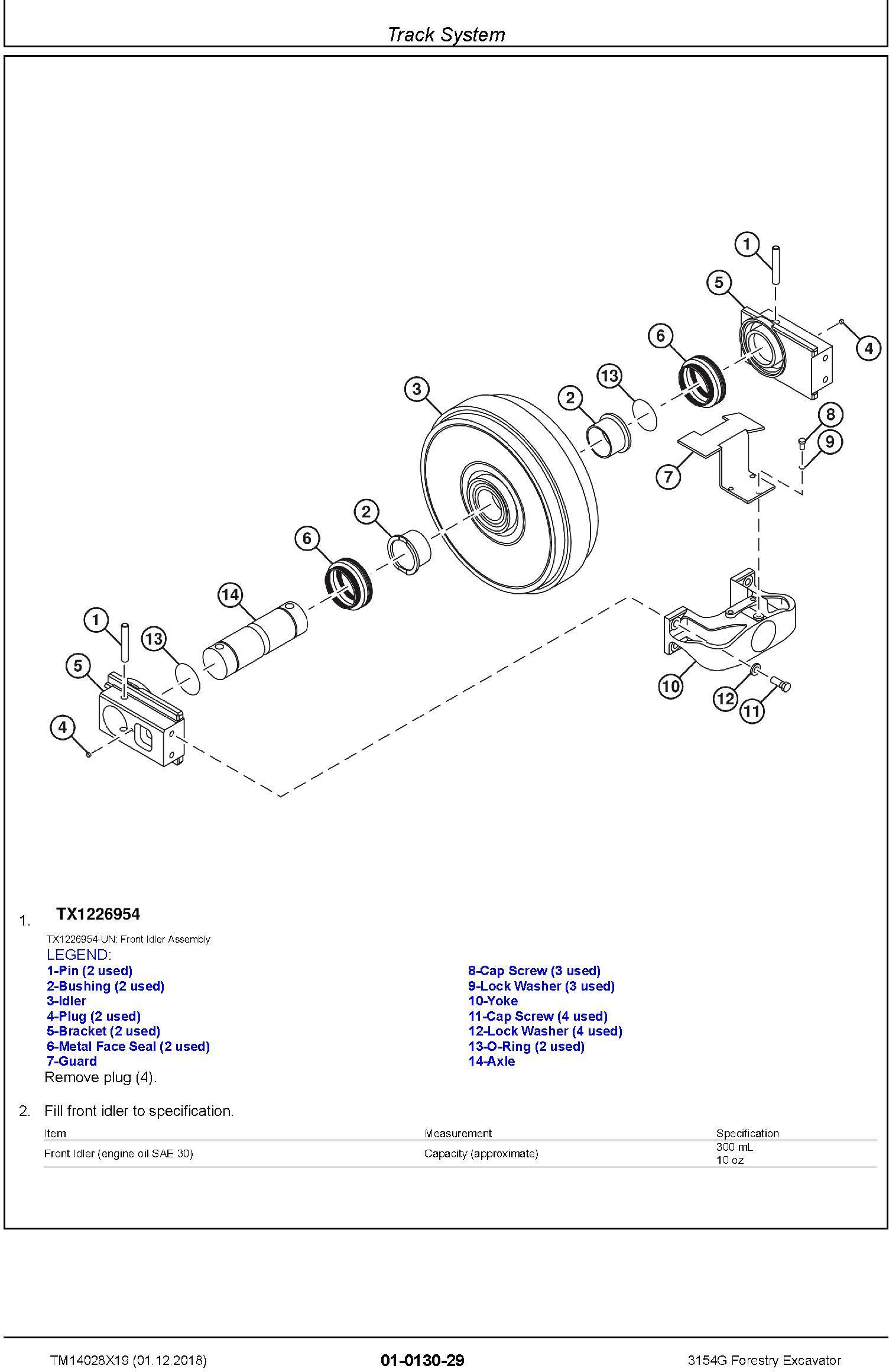 John Deere 3154G (SN. D310001-) Forestry Excavator Service Repair Technical Manual (TM14028X19) - 1