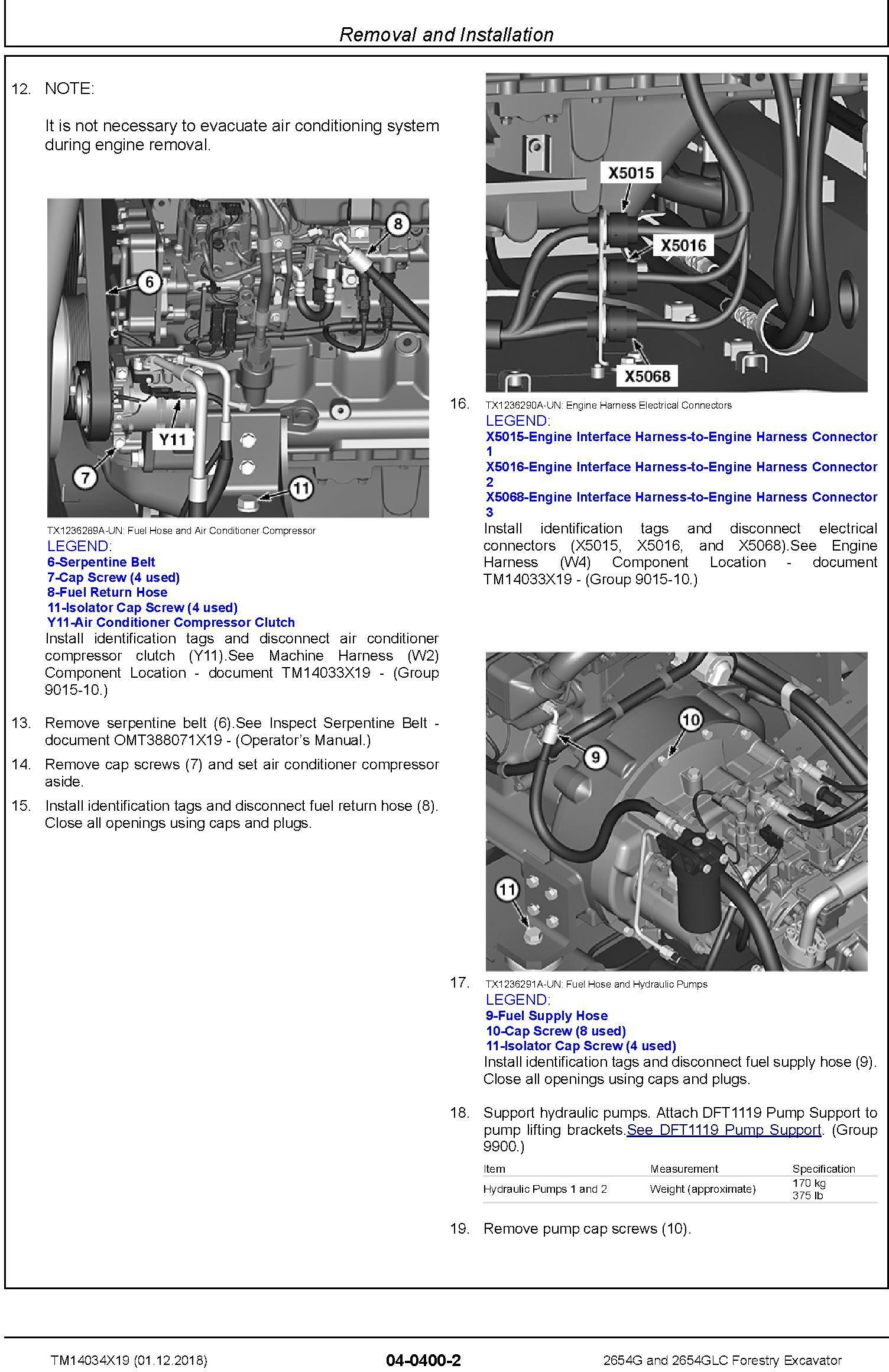John Deere 2654G, 2654GLC (SN. F260001-) Forestry Excavator Repair Technical Manual (TM14034X19) - 3