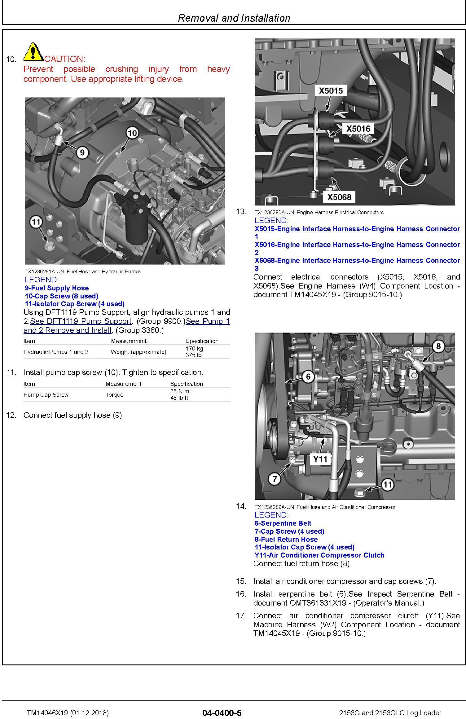 John Deere 2156G, 2156GLC (SN. F216001-) Log Loader Repair Technical Service Manual (TM14046X19) - 3
