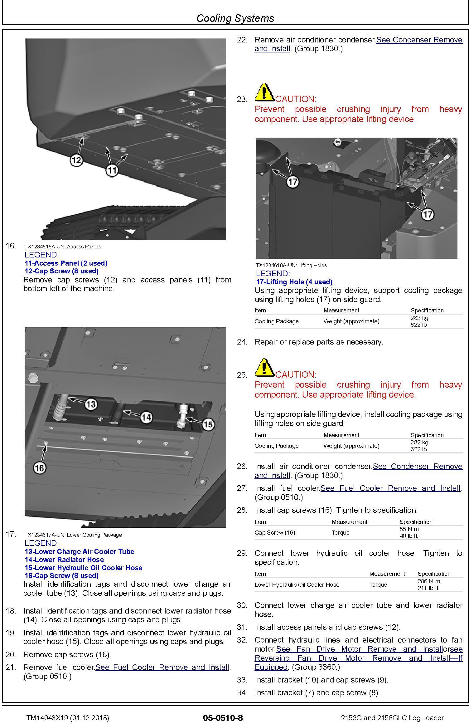 John Deere 2156G, 2156GLC (SN. C216001-, D216001) Log Loader Repair Technical Manual (TM14048X19) - 3