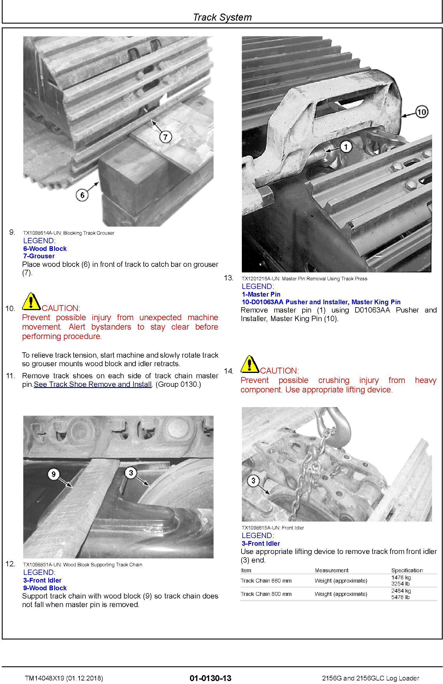 John Deere 2156G, 2156GLC (SN. C216001-, D216001) Log Loader Repair Technical Manual (TM14048X19) - 1
