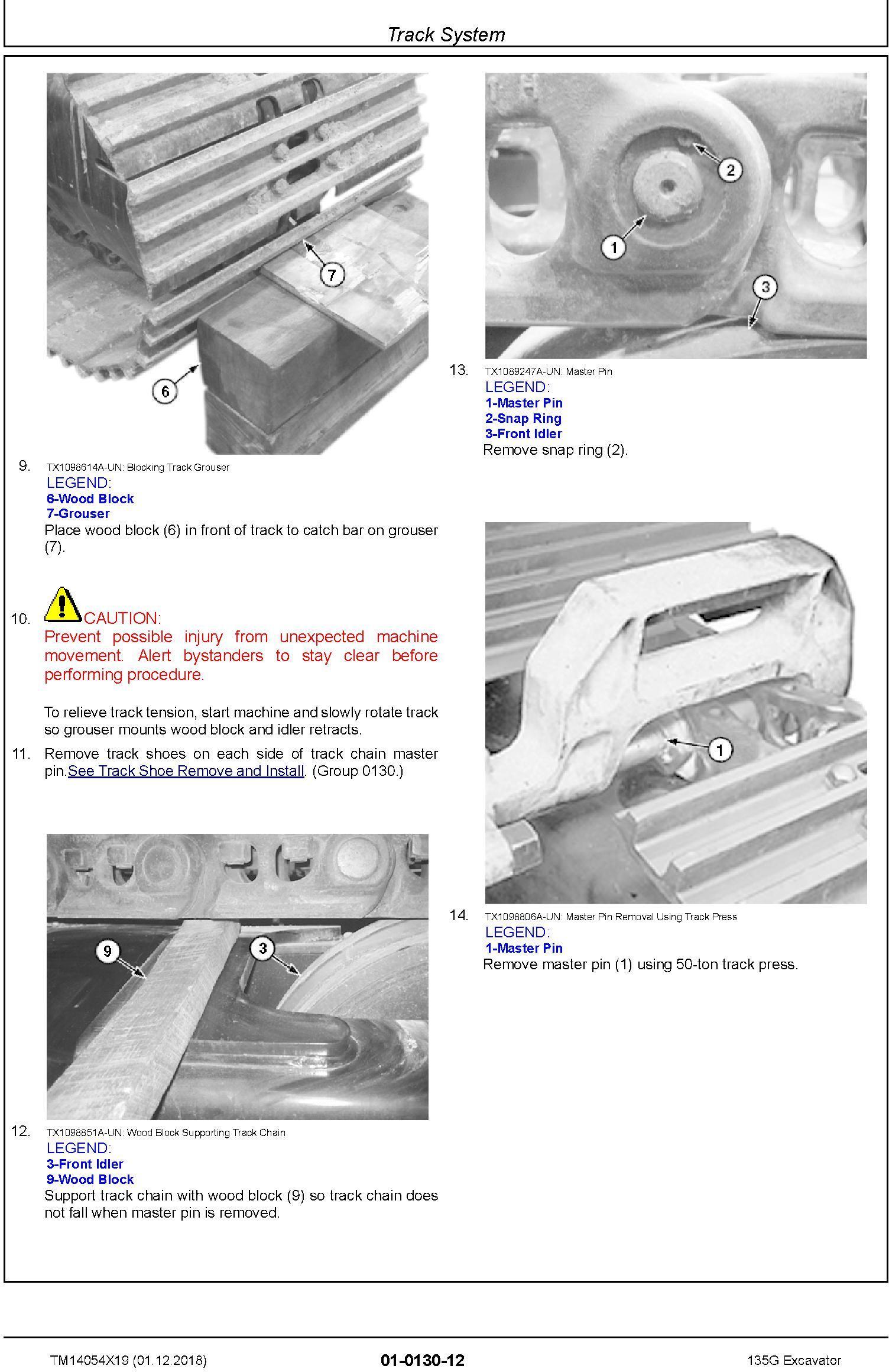 John Deere 135G (SN. from F500001) Excavator Service Repair Technical Manual (TM14054X19) - 1