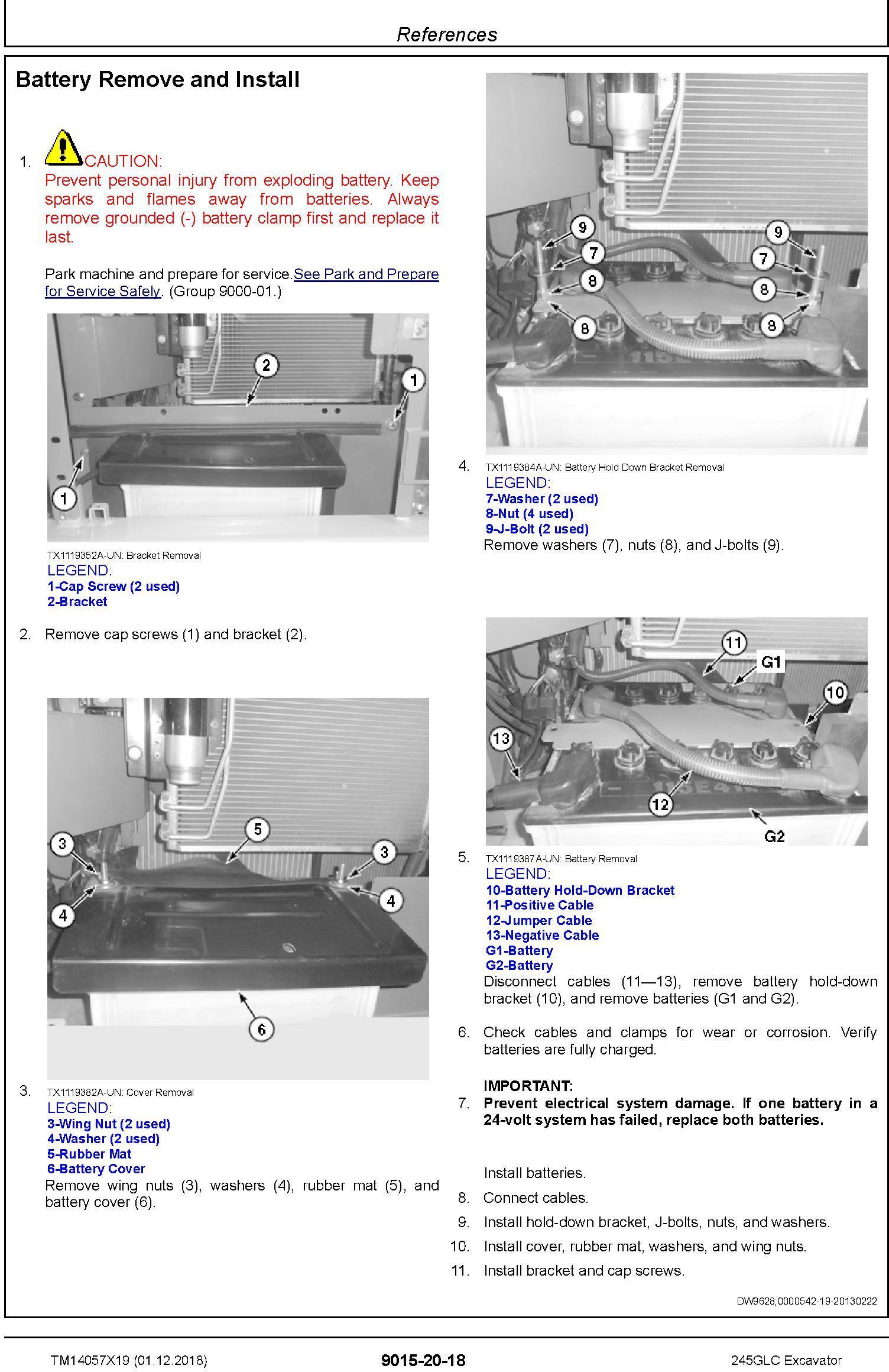 John Deere 245GLC (SN.from F800001) Excavator Operation & Test Technical Service Manual (TM14057X19) - 1
