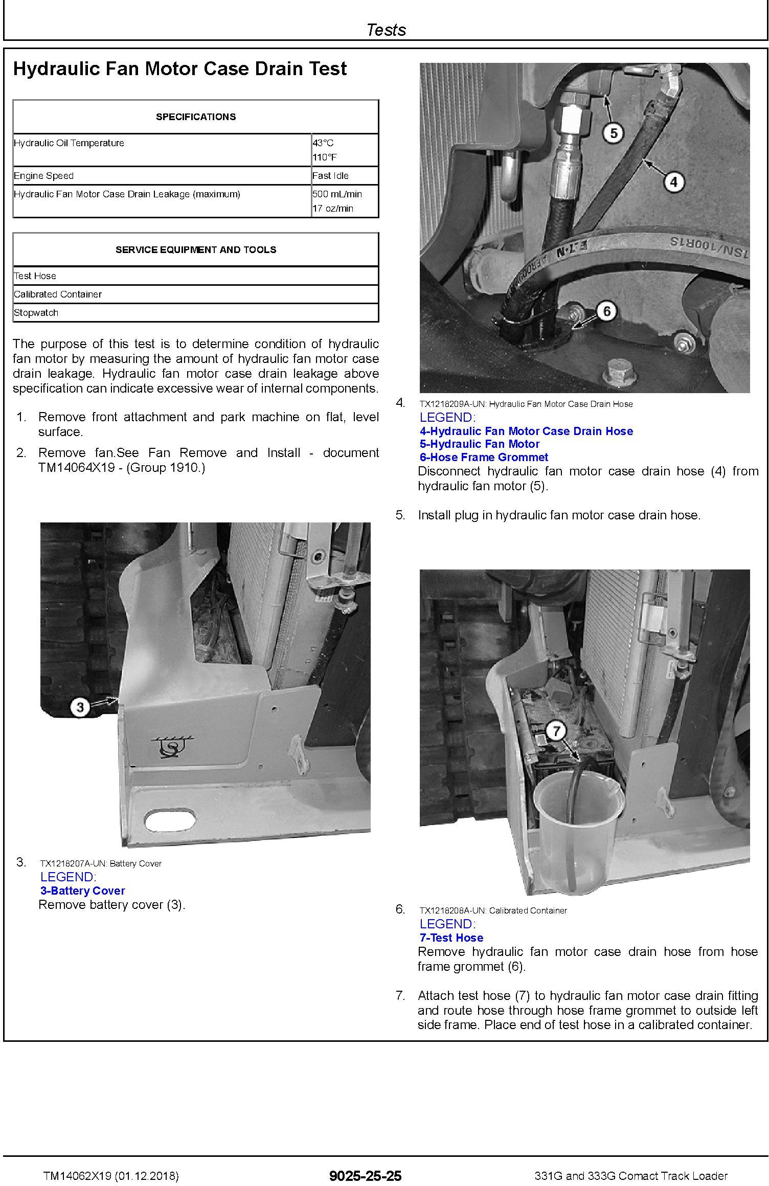 John Deere 331G and 333G Comact Track Loader Operation & Test Technical Service Manual (TM14062X19) - 2