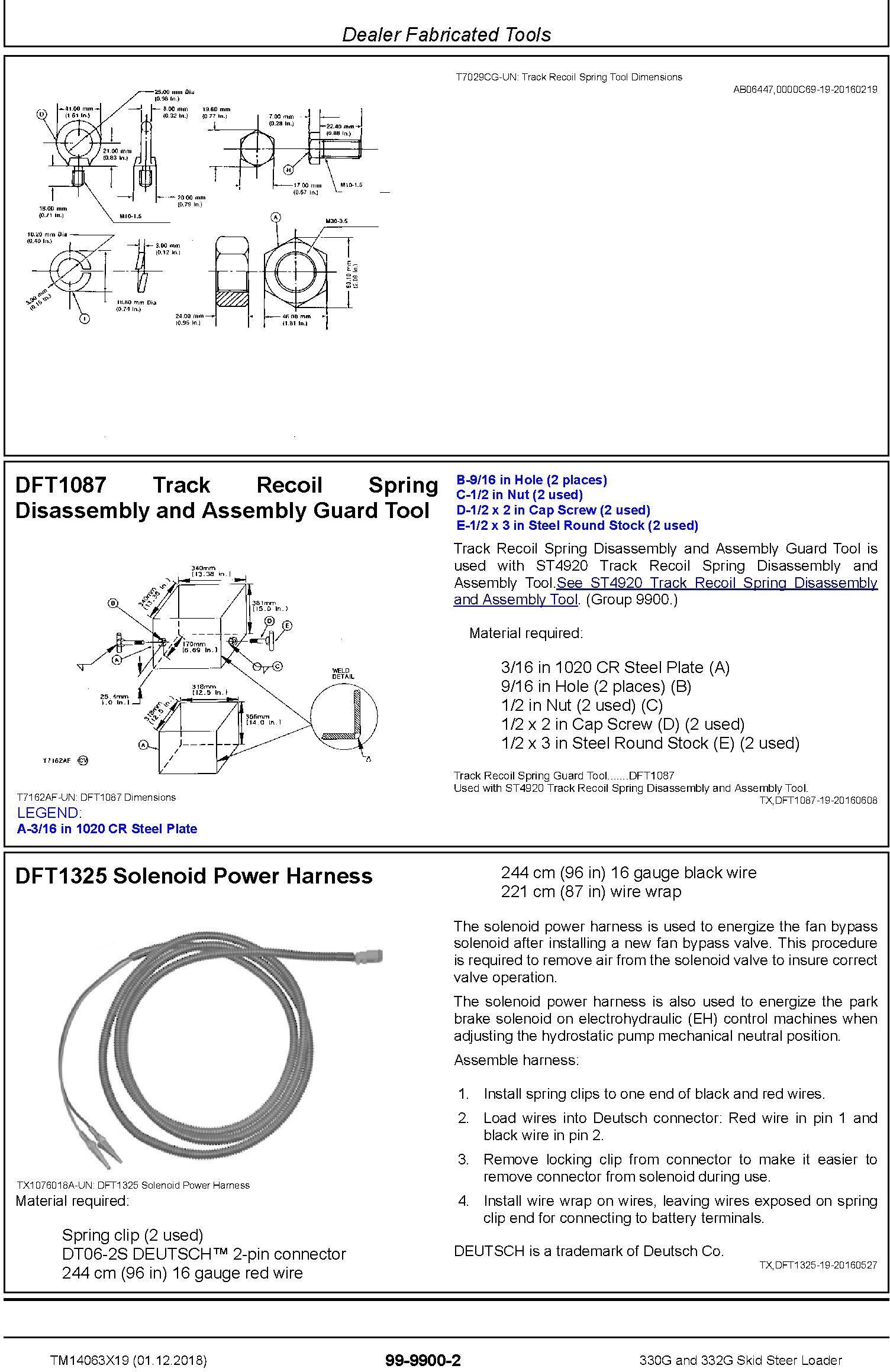 John Deere 330G and 332G Skid Steer Loader Repair Service Manual (TM14063X19) - 3