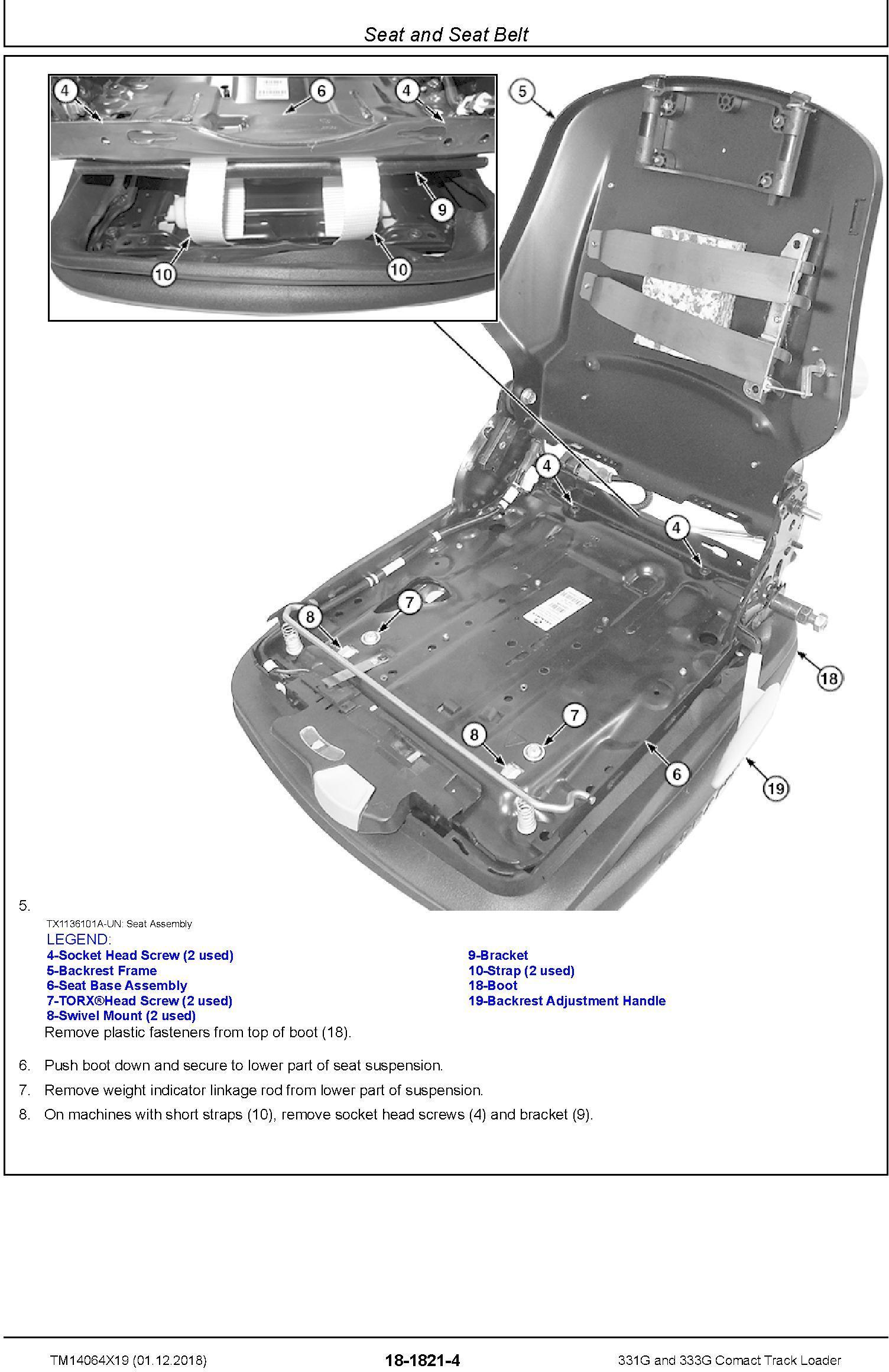 John Deere 331G and 333G Comact Track Loader Repair Service Manual (TM14064X19) - 2