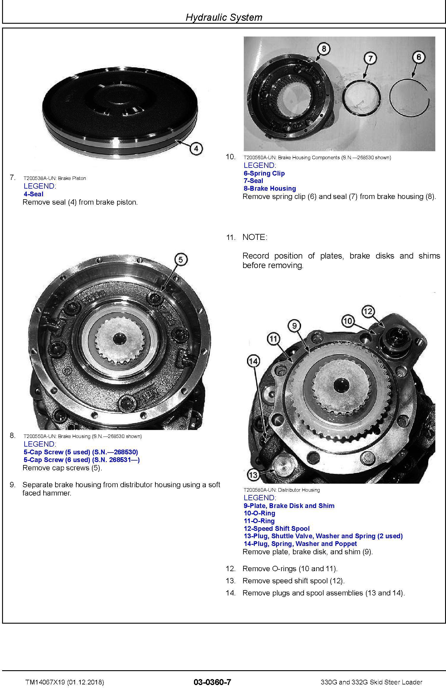 John Deere 330G and 332G Skid Steer Loader Service Repair Manual (TM14067X19) - 1
