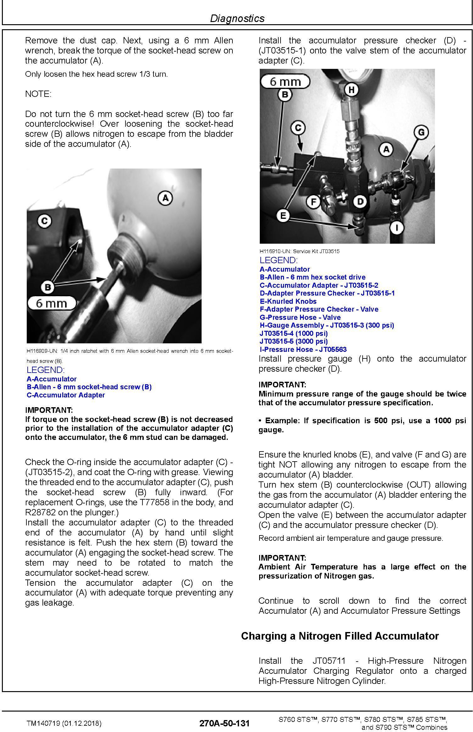 John Deere S760, S770, S780, S785, S790 STS Combines Diagnostic Technical Service Manual (TM140719) - 2