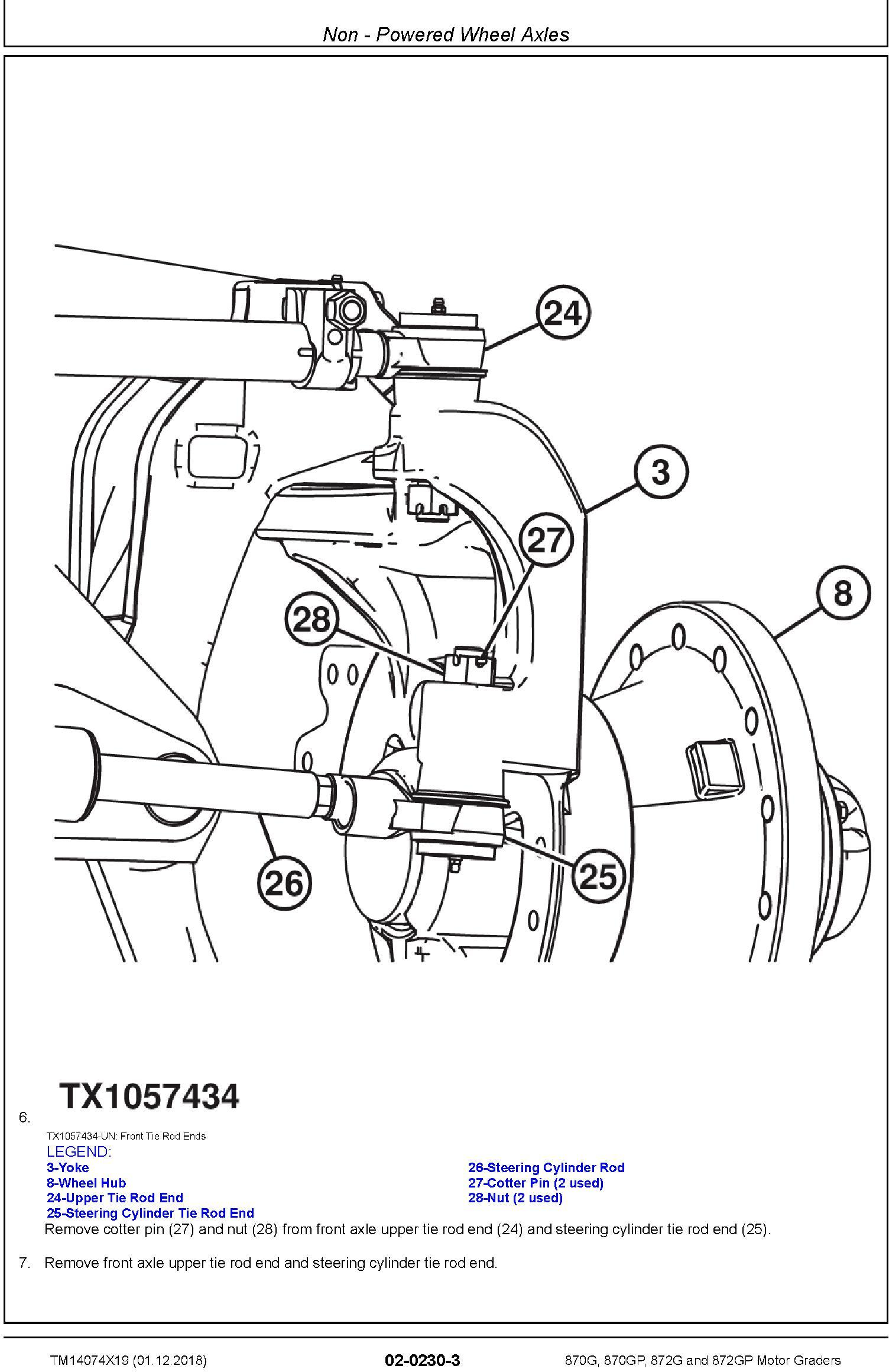 John Deere 870G, 870GP, 872G, 872GP (SN. F678818-680877) Motor Graders Repair Manual (TM14074X19) - 1