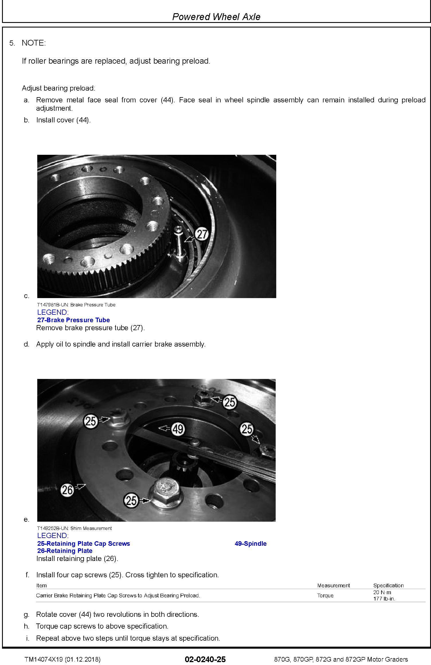 John Deere 870G, 870GP, 872G, 872GP (SN. F678818-680877) Motor Graders Repair Manual (TM14074X19) - 3