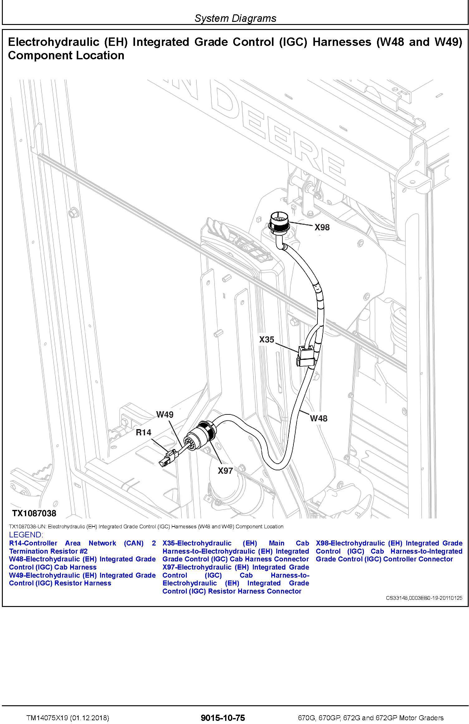 John Deere 670G, 670GP, 672G, 672GP (SN.C678818-680877) Motor Graders Diagnostic Manual (TM14075X19) - 2