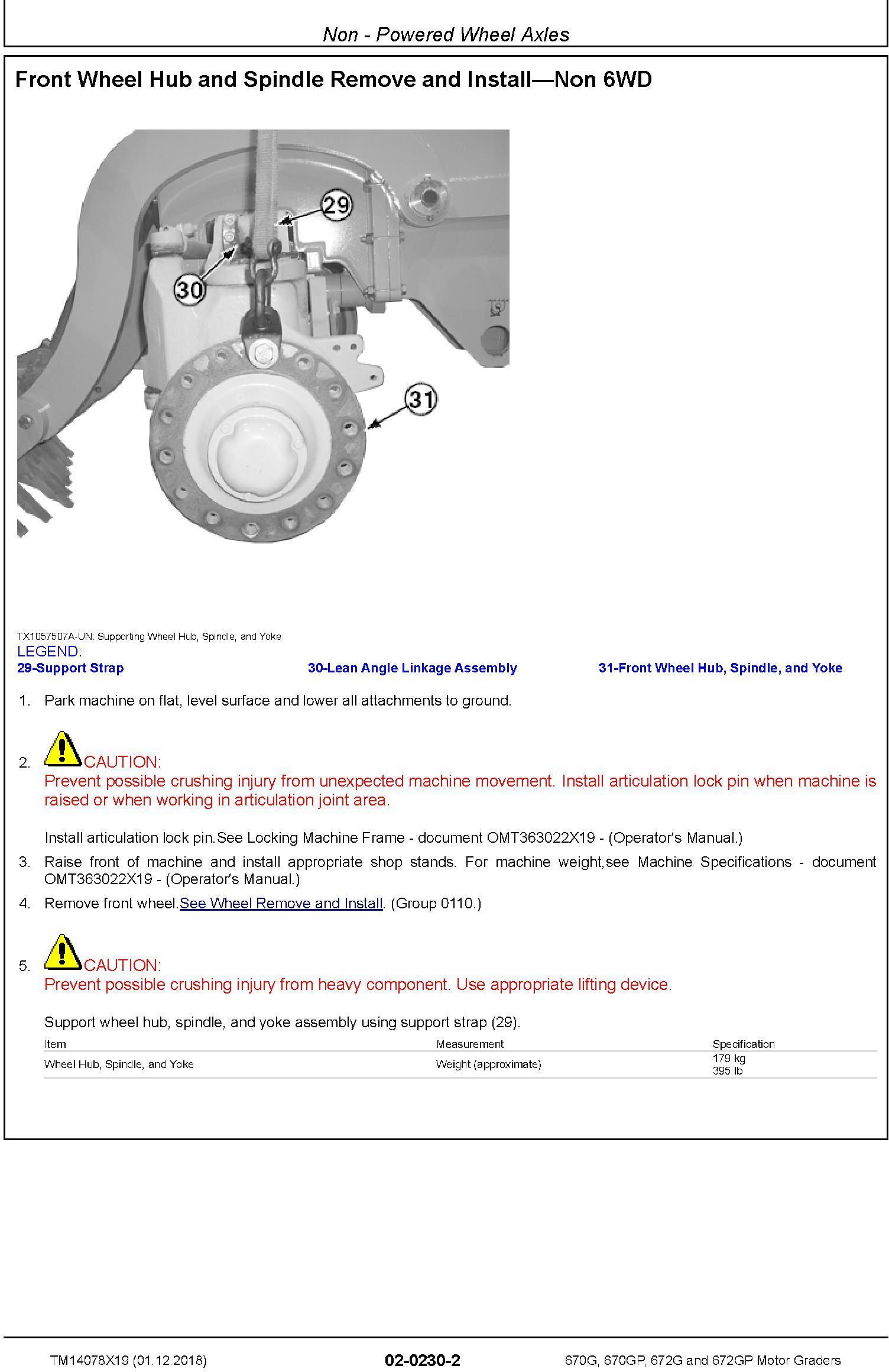 John Deere 670G, 670GP, 672G, 672GP (SN. C678818—680877) Motor Graders Repair Manual (TM14078X19) - 1