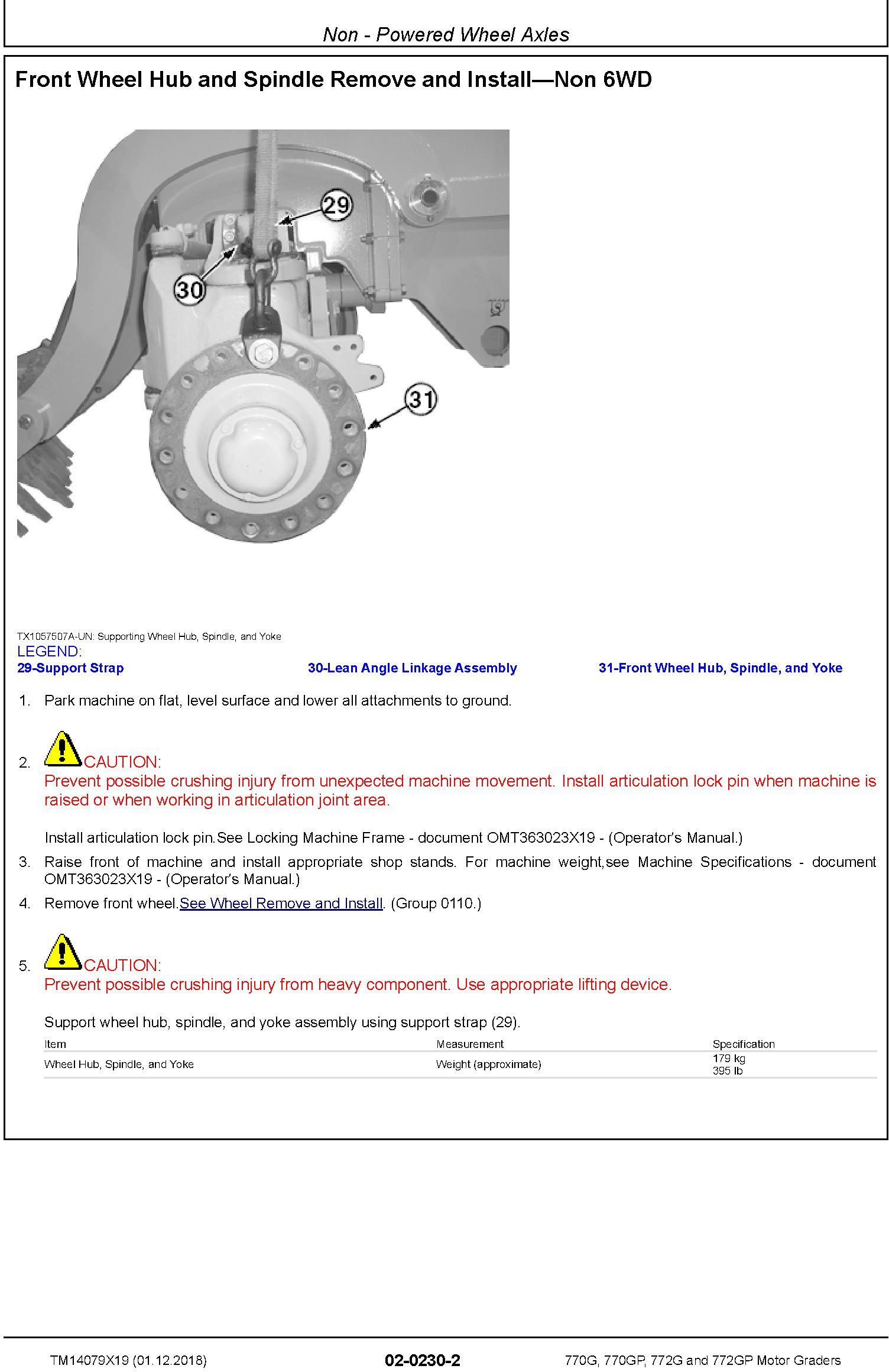 John Deere 770G, 770GP, 772G, 772GP (SN.C678818—680877) Motor Graders Repair Manual (TM14079X19) - 2