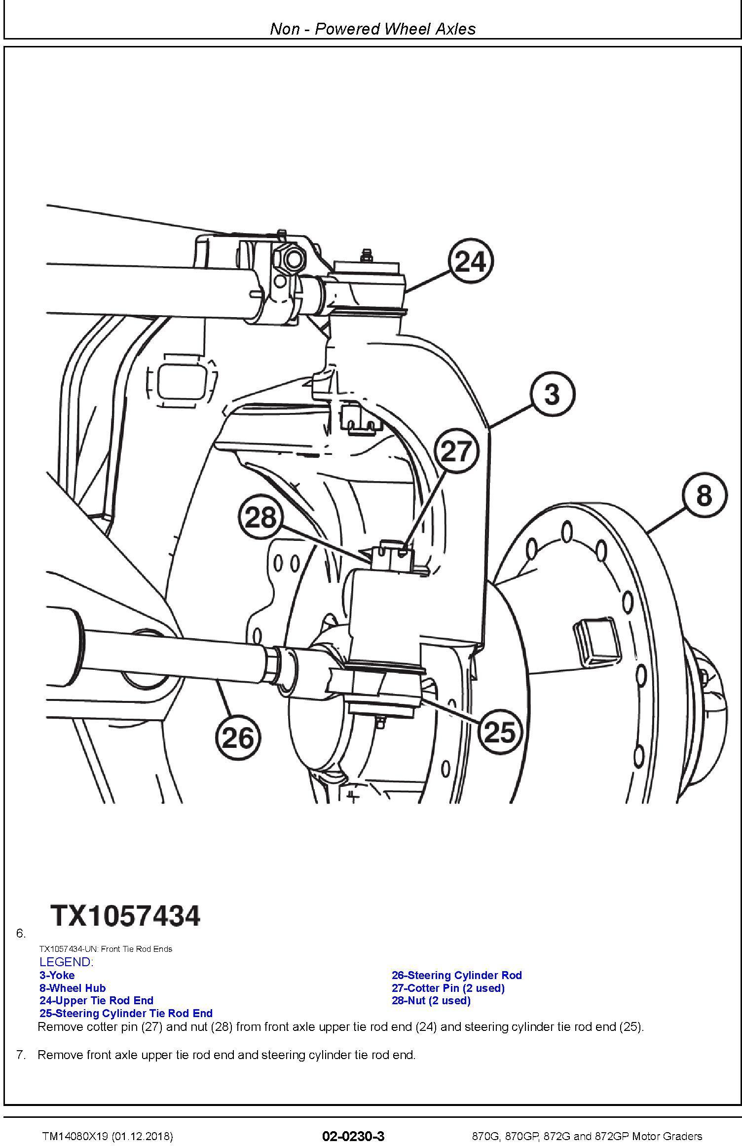 John Deere 870G, 870GP, 872G, 872GP (SN. C678818-680877) Motor Graders Repair Manual (TM14080X19) - 1