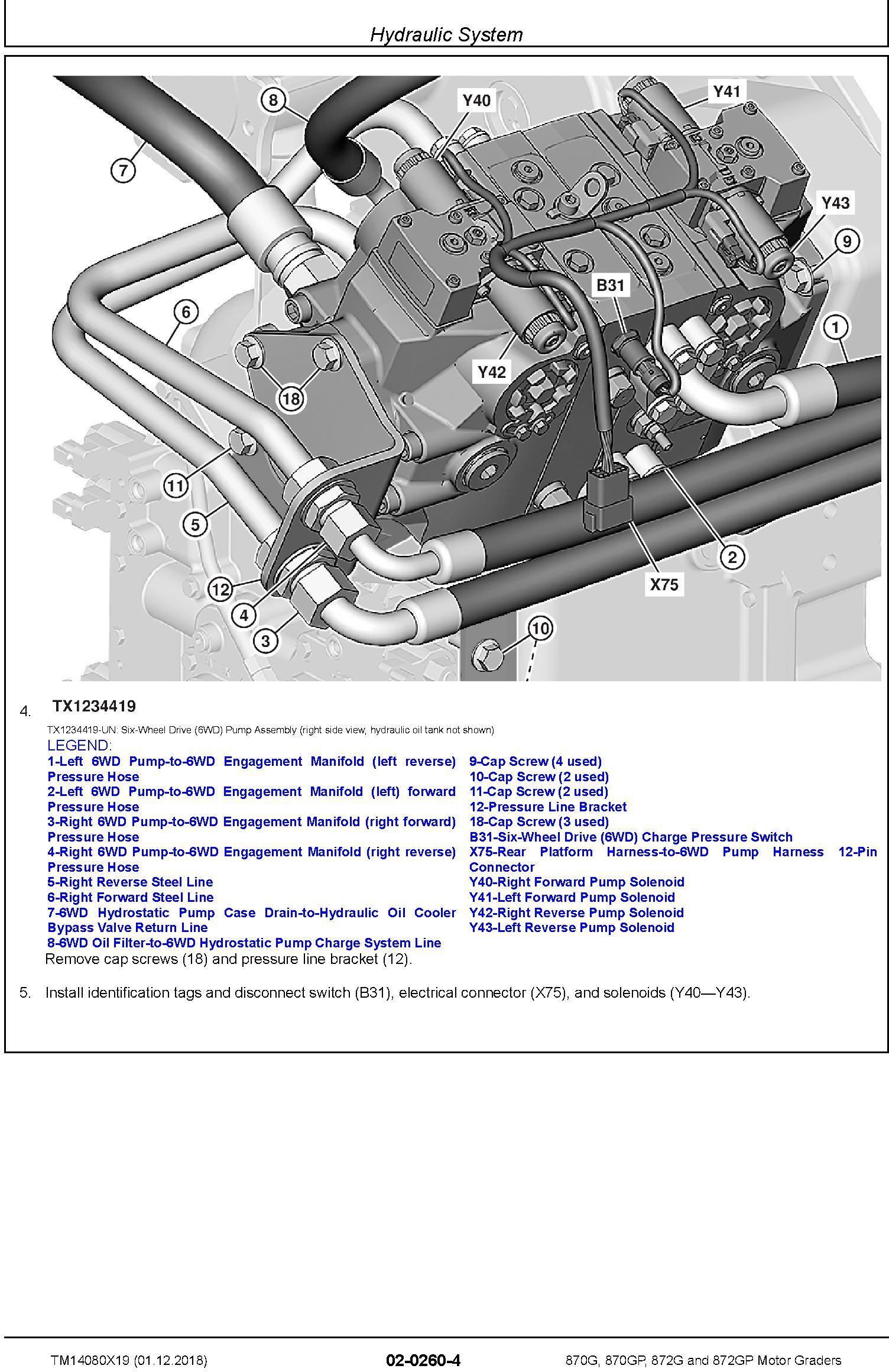 John Deere 870G, 870GP, 872G, 872GP (SN. C678818-680877) Motor Graders Repair Manual (TM14080X19) - 3