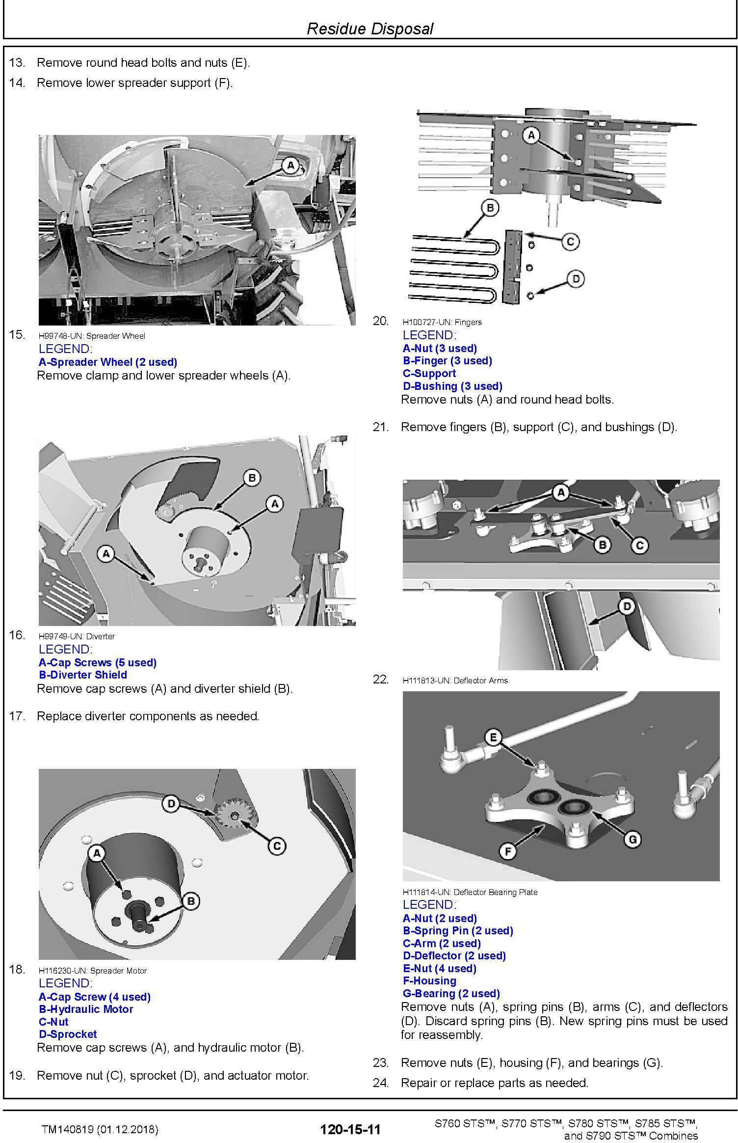 John Deere S760, S770, S780, S785, S790 STS Combines Repair Technical Service Manual (TM140819) - 1