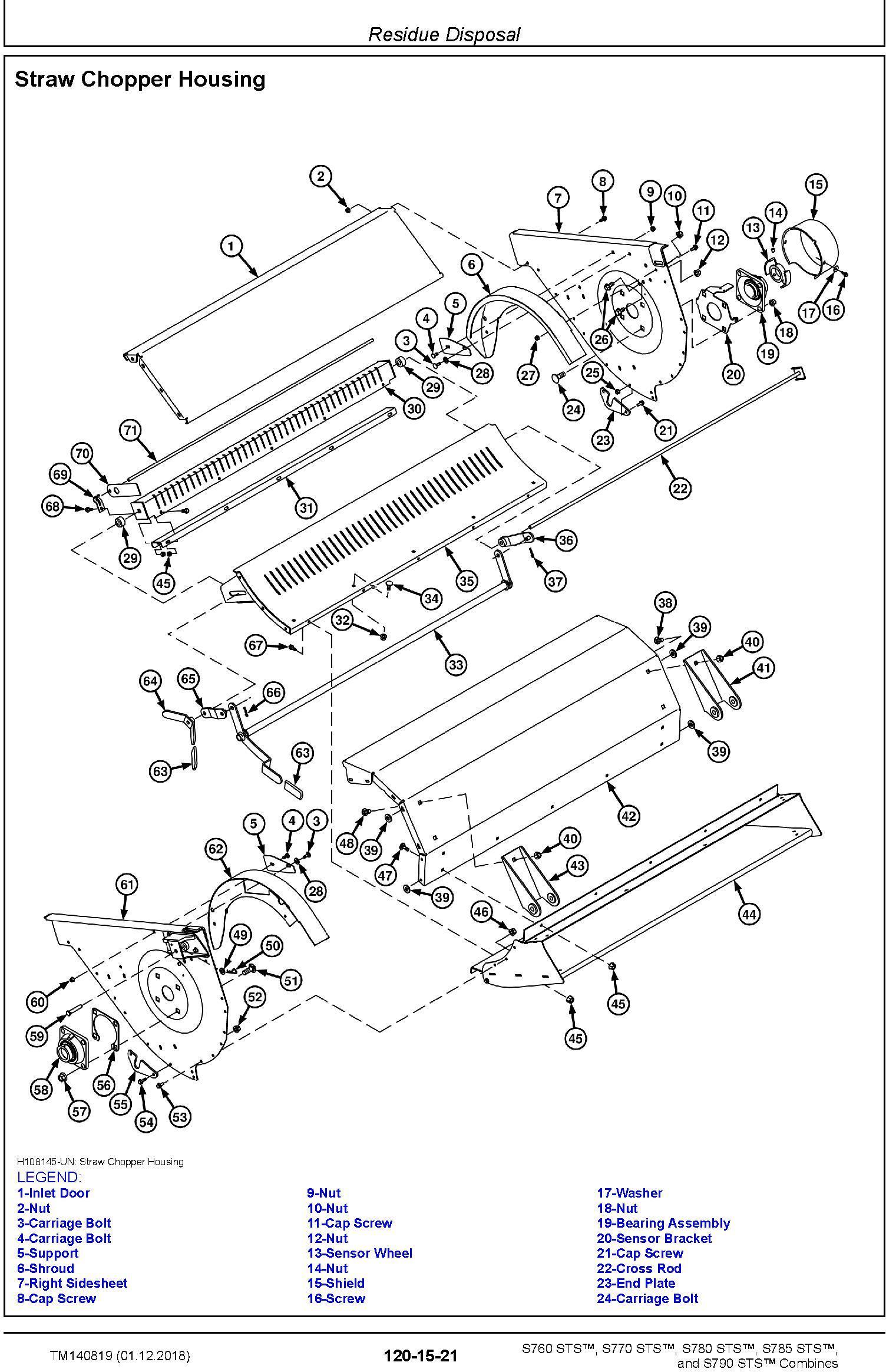 John Deere S760, S770, S780, S785, S790 STS Combines Repair Technical Service Manual (TM140819) - 2