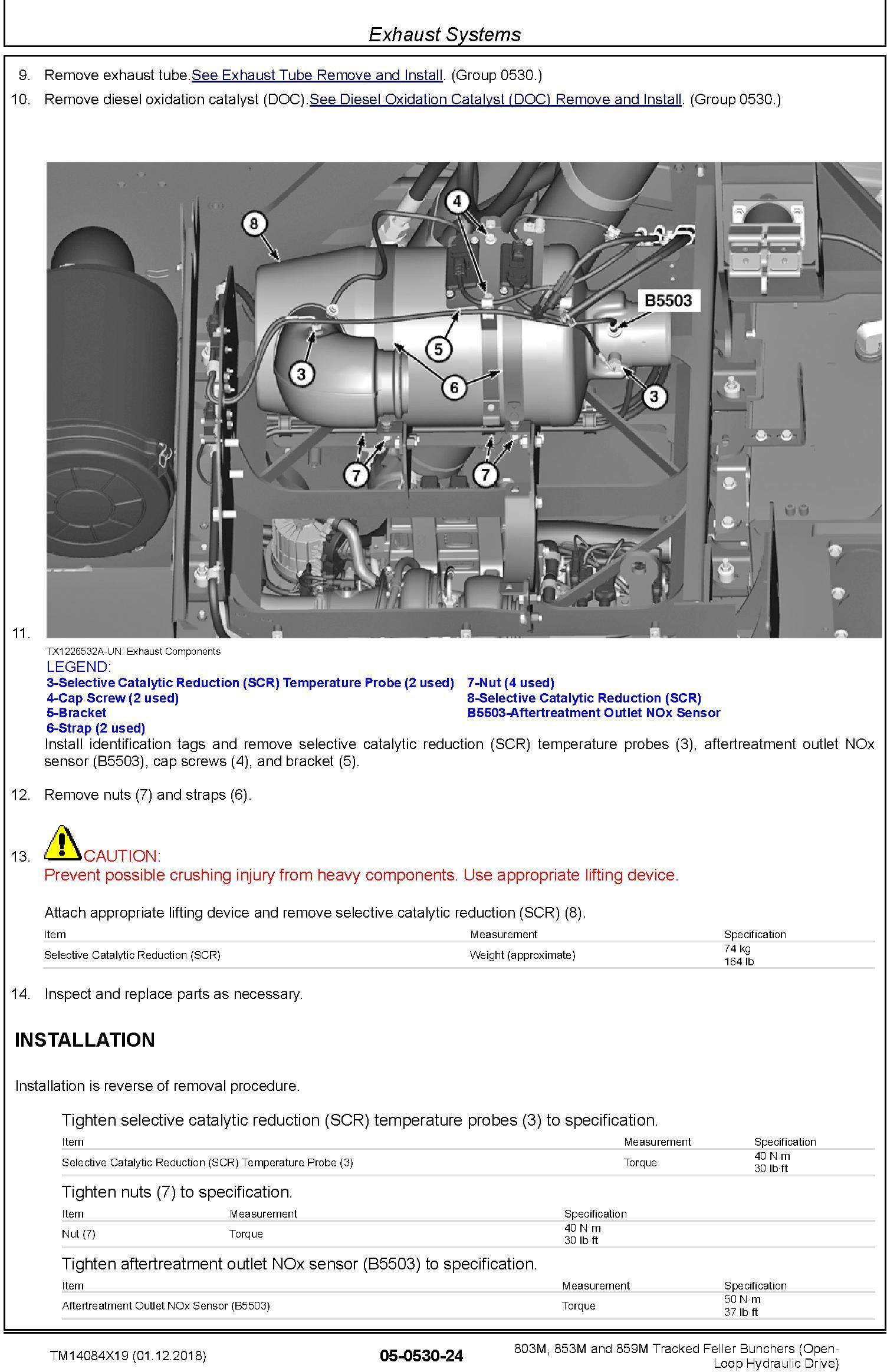 John Deere 803M,853M,859M (SN.F293917-,L343918-) Feller Buncher (Open-Loop) Repair Manual TM14084X19 - 3