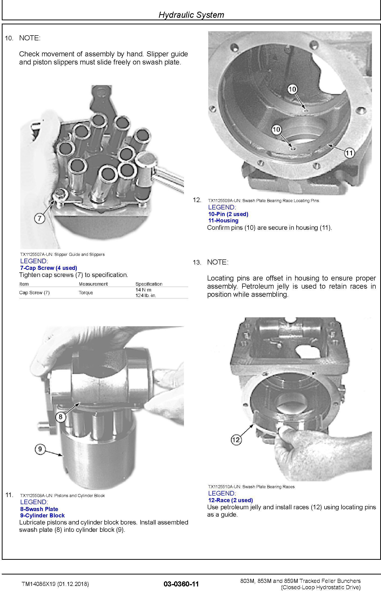 John Deere 803M,853M,859M(SN.F293917-,L343911-) Feller Buncher (Closed-Loop) Repair Manual TM14086X19 - 2